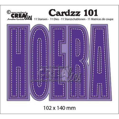 Crealies Cardzz no 101 HOERA (NL) CLCZ101 102x140mm (10-19)