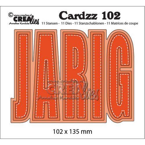 Crealies Cardzz no 102 JARIG (NL) CLCZ102 102x135mm (10-19)