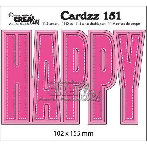 Crealies Cardzz no 151 HAPPY (ENG) CLCZ151 102x155mm (10-19)