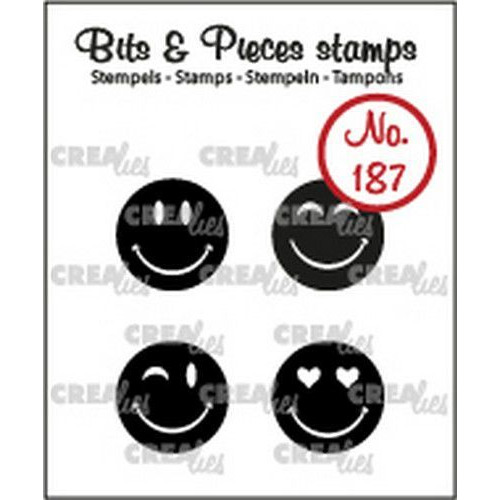 Crealies Clearstamp Bits & Pieces Happy faces solid CLBP187 4x15mm (10-19)