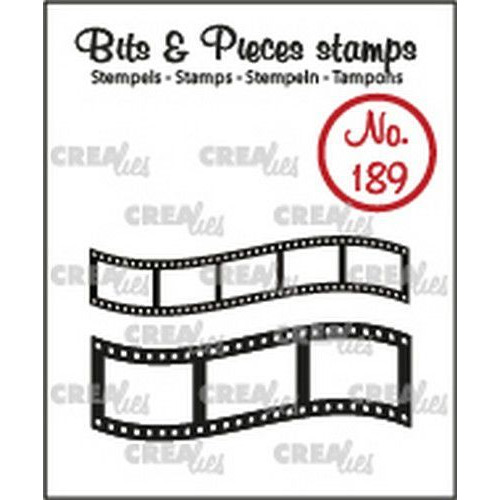 Crealies Clearstamp Bits & Pieces Gebogen filmstrips CLBP189 11x43mm - 16x43mm (10-19)