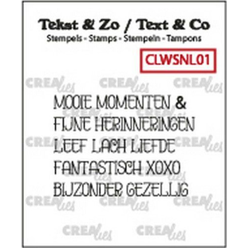 Crealies Clearstamp Tekst&Zo woord strips Momenten (NL) CLWSNL01 4mm (10-19)