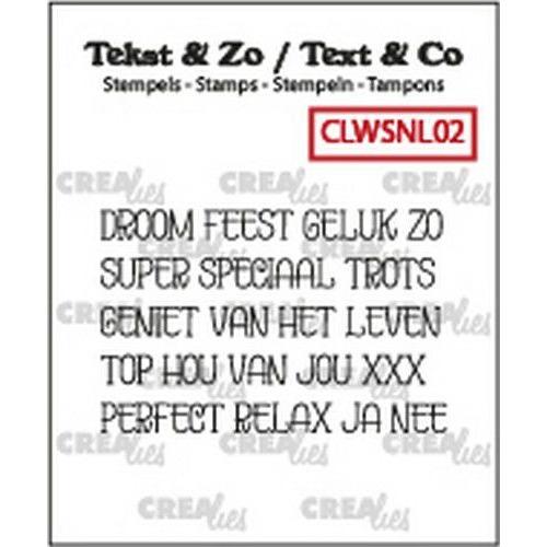 Crealies Clearstamp Tekst&Zo woord strips Droom (NL) CLWSNL02 4mm (10-19)