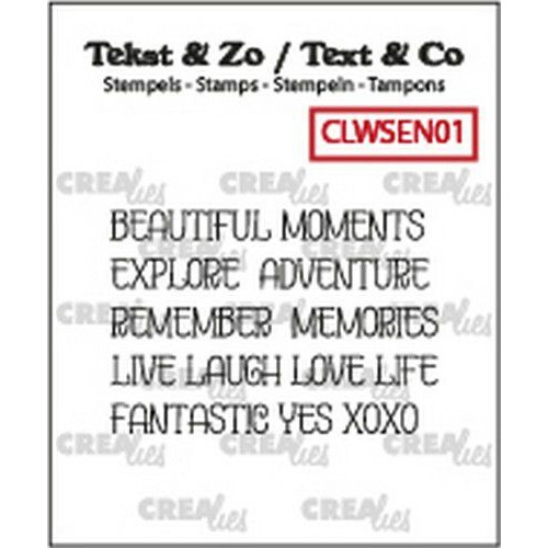 Crealies Clearstamp Text&Co ENG word strips Moments (ENG) CLWSEN01 4mm (10-19)