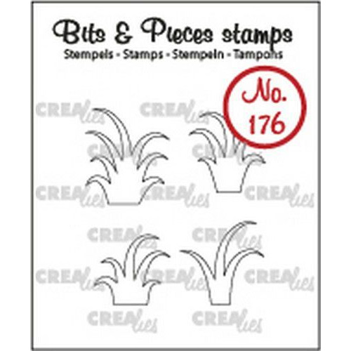 Crealies Clearstamp Bits & Pieces 4x gras CLBP176 4xmax. 16x18mm (10-19)