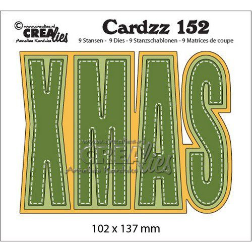 Crealies Cardzz no 152 XMAS (ENG) CLCZ152 102x137mm (10-19)