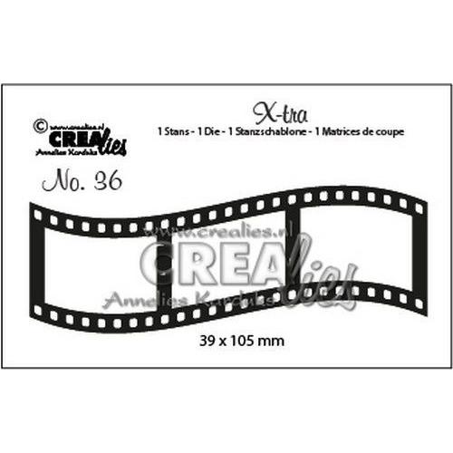 Crealies X-tra no. 36 Gebogen filmstrip middel CLX-tra36 39x105mm (10-19)