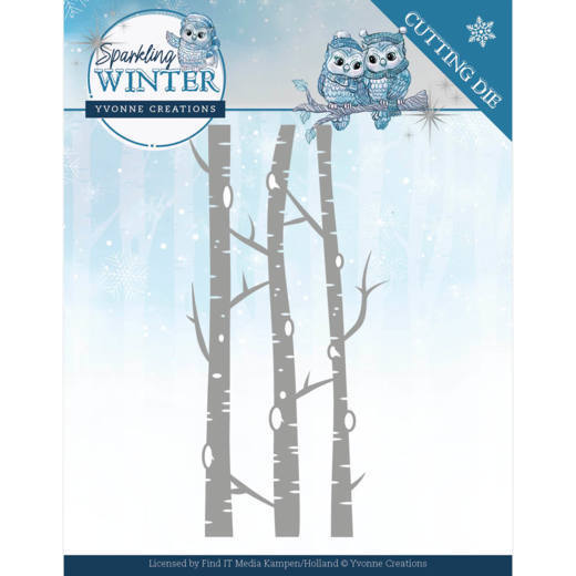 Dies - Yvonne Creations - Sparkling Winter - Birch Trees
