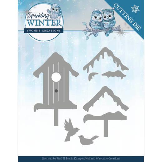 Dies - Yvonne Creations - Sparkling Winter - Winter Birdhouse