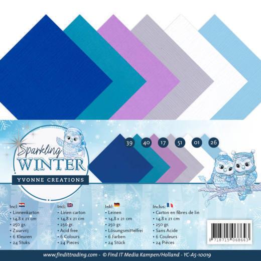 Linnenpakket - A5 - Yvonne Creations - Sparkling Winter