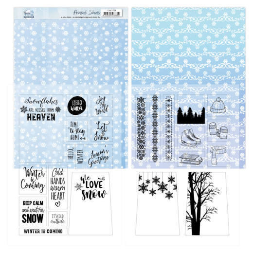 Mica Sheets - Yvonne Creations - Sparkling Winter