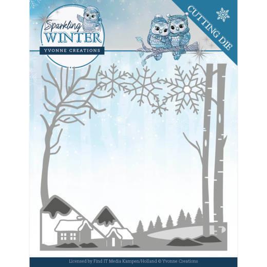 Dies - Yvonne Creations - Sparkling Winter - Winter Landscape