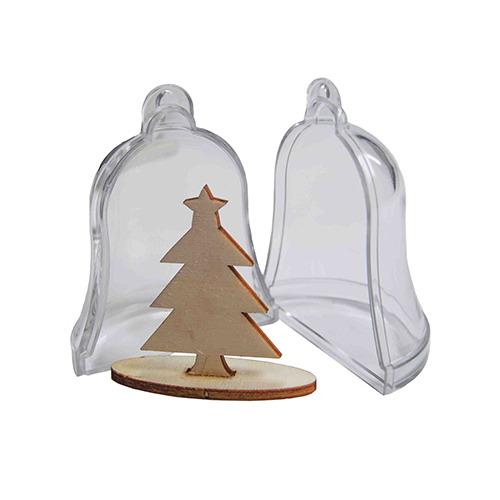 Transparante klok met denneboom