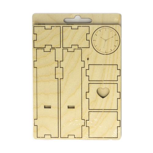3D wooden puzzle wall clock ca