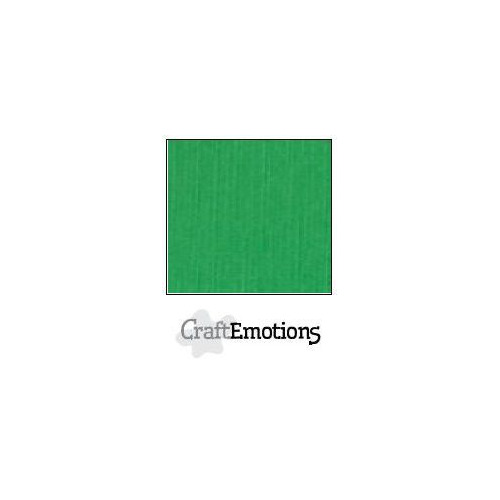 CraftEmotions linnenkarton 100 vel grasgroen Bulk LC-27 30,5x30,5cm 250gr