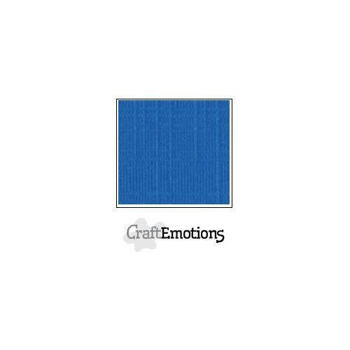 CraftEmotions linnenkarton 100 vel signaalblauw Bulk LC-15 30,5x30,5cm 250gr