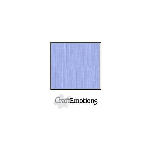CraftEmotions linnenkarton 100 vel licht jeans Bulk LC-42 30,5x30,5cm 250gr