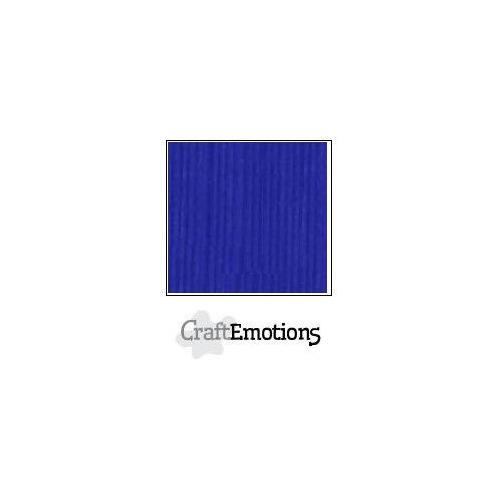 CraftEmotions linnenkarton 100 vel kobaltblauw Bulk LC-55 30,5x30,5cm 250gr