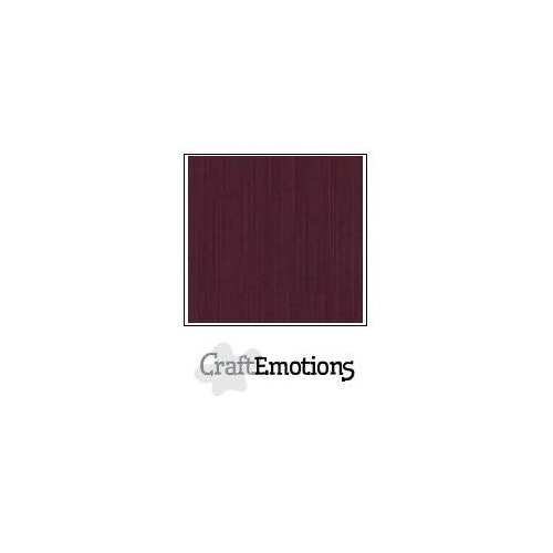 CraftEmotions linnenkarton 100 vel burgundy Bulk LC-67 30,5x30,5cm 250gr