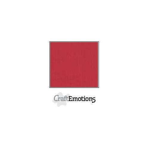 CraftEmotions linnenkarton 100 vel kersen rood Bulk LC-30 30,5x30,5cm 250gr