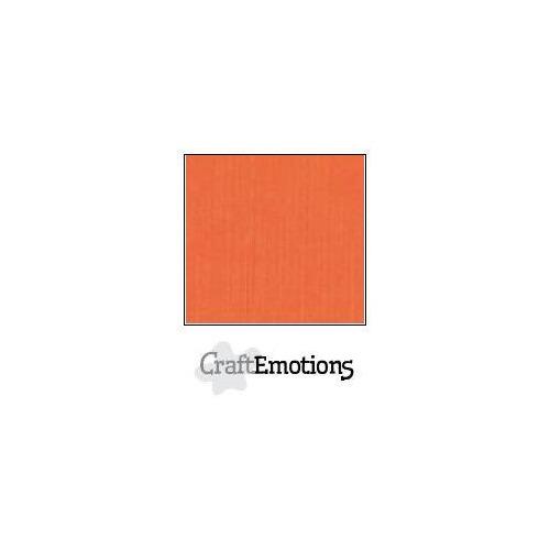 CraftEmotions linnenkarton 100 vel oranje Bulk LC-23 30,5x30,5cm 250gr