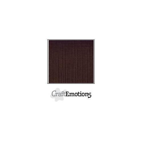 CraftEmotions linnenkarton 100 vel chocolade Bulk LC-79 30,5x30,5cm 250gr