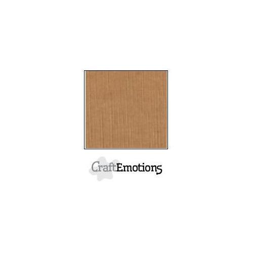 CraftEmotions linnenkarton 100 vel mokka Bulk LC-28 30,5x30,5cm 250gr