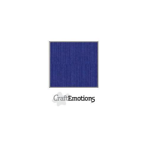 CraftEmotions linnenkarton 100 vel saffierblauw Bulk LHC-56 A4 250gr