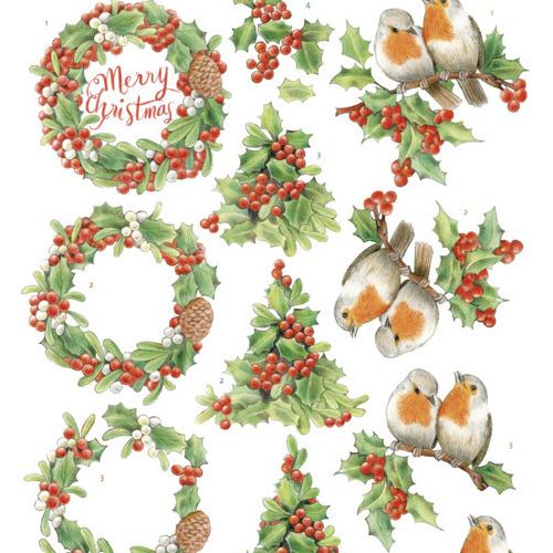 3D Knipvel -Jeanine's Art -Merry Christmas