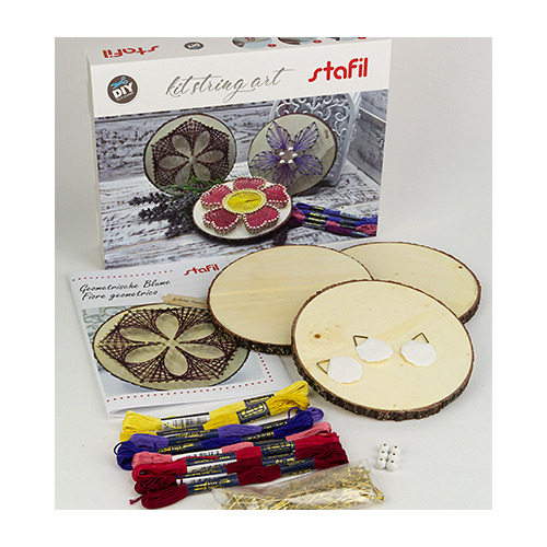 String-art creative kit, flowers