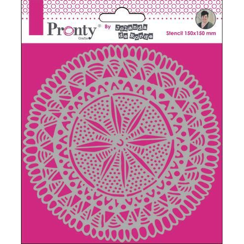 Pronty Mask Mandala Circle Tribal by Jolanda 15x15 470.770.021 by Jolanda (11-19)