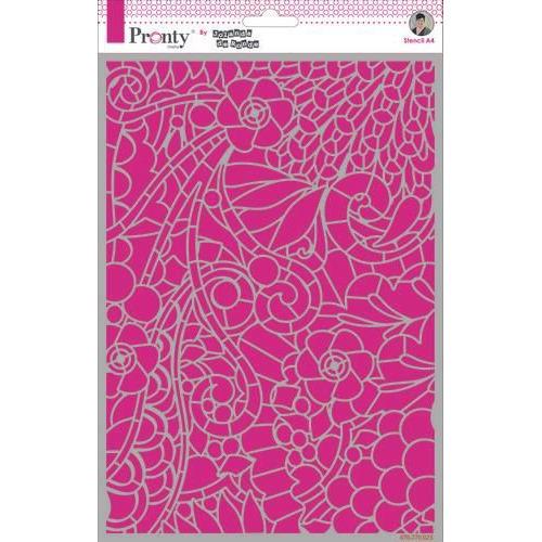 Pronty Mask Background Floral Swirl by Jolanda A4 470.770.023 by Jolanda (11-19)