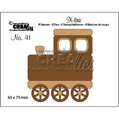 Crealies X-tra no. 41 Trein (middel) CLX-tra41 65x73mm (11-19)