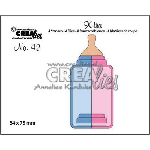 Crealies X-tra no. 42 Zuigfles (middel) CLX-tra42 34x75mm (11-19)