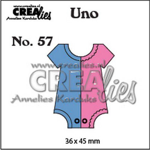 Crealies Uno nr. 57 Romper(klein) CLUno57 36x45mm (11-19)