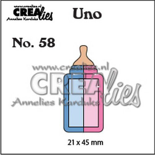 Crealies Uno nr. 58 Zuigfles (klein) CLUno58 21x45mm (11-19)