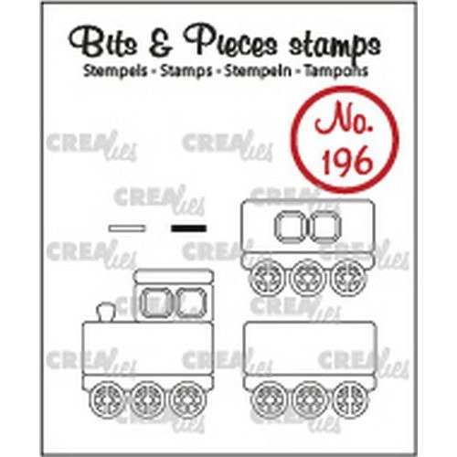 Crealies Clearstamp Bits&Pieces Trein + wagons CLBP196 max. 19x22mm (11-19)
