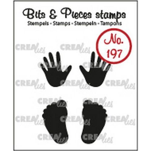 Crealies Clearstamp Bits&Pieces Baby handjes + voetjes (dicht) CLBP197 max. 12x20mm (11-19)