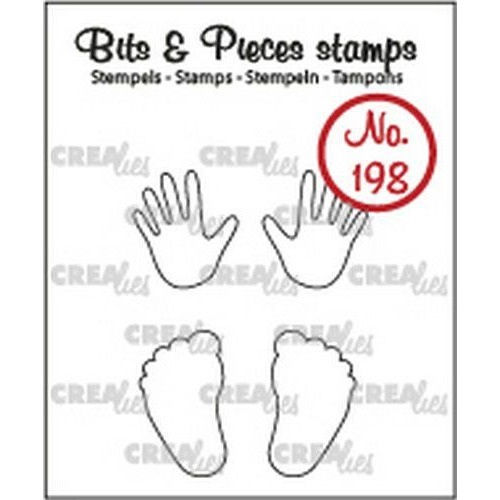 Crealies Clearstamp Bits&Pieces Baby handjes + voetjes (omlijning) CLBP198 max. 12x20mm (11-19)