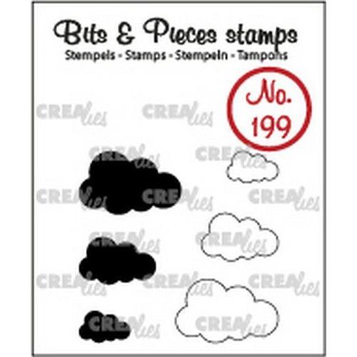 Crealies Clearstamp Bits&Pieces Wolkjes (dicht en omlijning) CLBP199 max. 19x12mm (11-19)