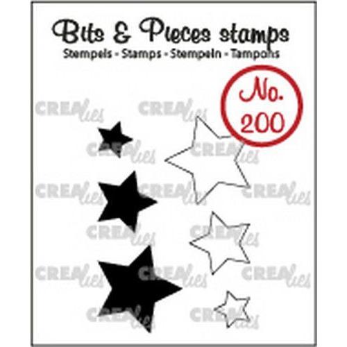 Crealies Clearstamp Bits&Pieces Sterretjes (dicht en omlijning) CLBP200 max. 16x17mm (11-19)