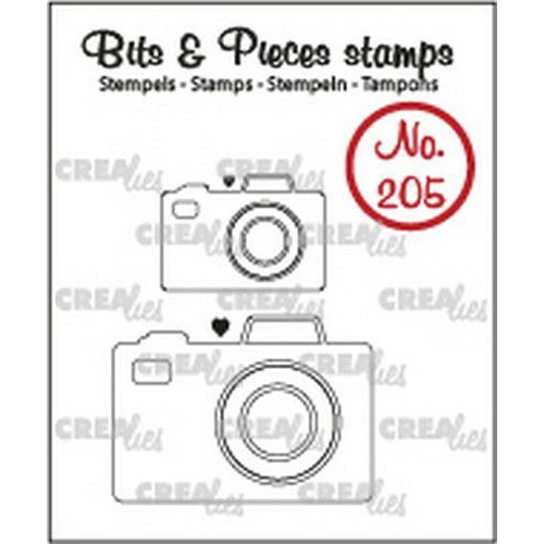 Crealies Clearstamp Bits&Pieces 2x camera CLBP205 max. 32x23mm (11-19)