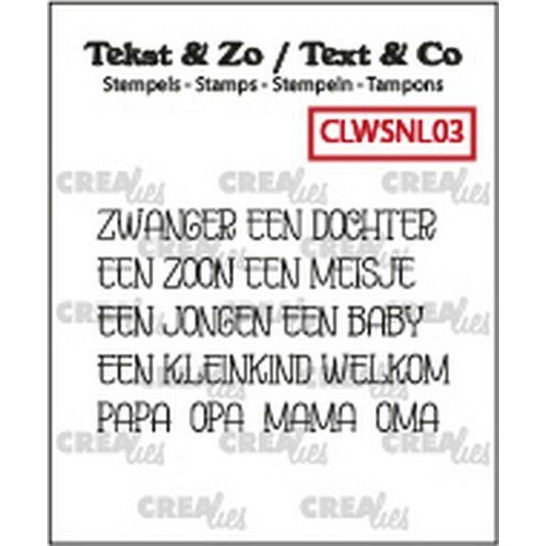 Crealies Clearstamp Tekst&Zo woord strips Baby CLWSNL03 5x4x42mm (11-19)