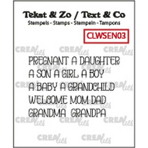 Crealies Clearstamp Text&Co ENG word Baby (Eng) CLWSEN03 5x4x42mm (11-19)