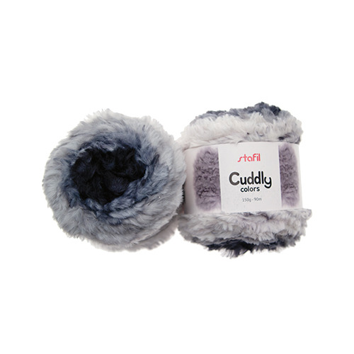 Cuddly Colors Yarn, Black/White