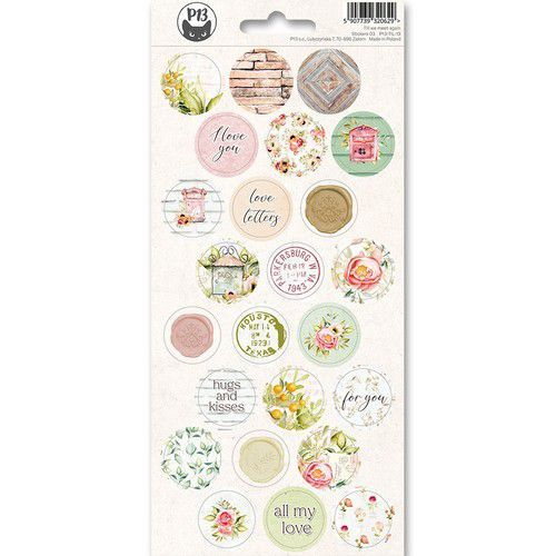 Piatek13 - Sticker sheet Till we meet again 03 P13-TIL-13 10,5x23 cm (11-19)