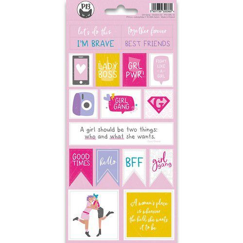 Piatek13 - Sticker sheet Girl Gang 02 P13-GRL-12 10,5x23 cm (11-19)