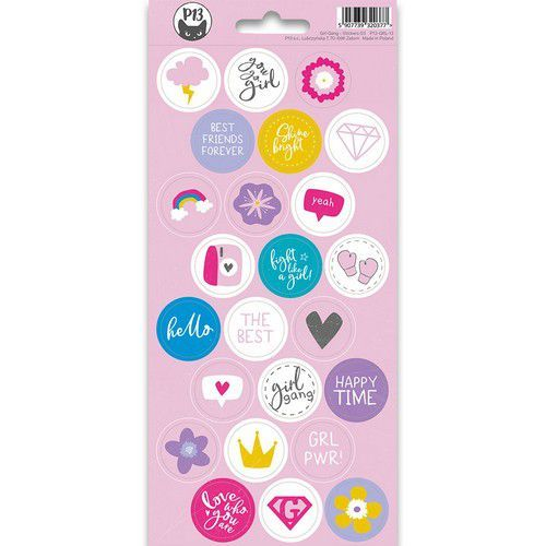 Piatek13 - Sticker sheet Girl Gang 03 P13-GRL-13 10,5x23 cm (11-19)