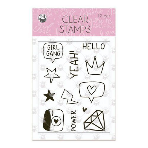 Piatek13 - Clear stamp set Girl Gang 01 P13-GRL-30 (11-19)