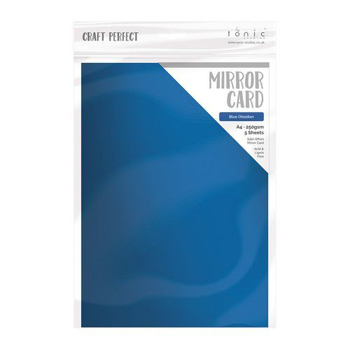 Tonic Studios spiegelkarton - mat - Blue Obsidian 5 vl A4 9479E (11-19)
